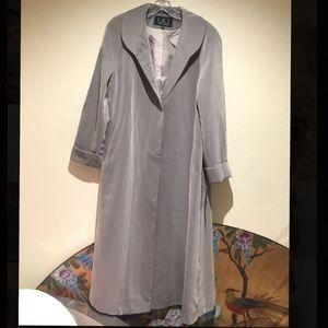 Utex Design grey long coat. Size 8